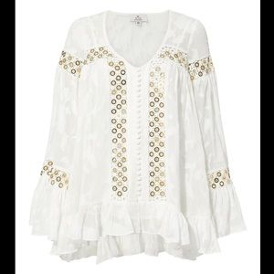 We are kindred Stephanie gold blouse size 2